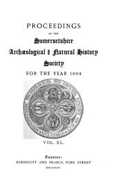 Proceedings of the Somersetshire Archaeological and Natural History Society