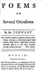 Poems on several occasions. By Mr. John Gay