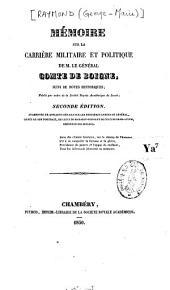 Mémoire sur la carrière militaire et politique de M. le Général comte de Boigne: suivi de notes historiques