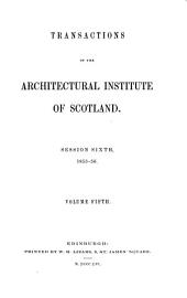 Transactions of the Architectural Institute of Scotland: Volume 5