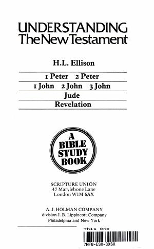 1 Peter  2 Peter  1 John  2 John  3 John  Jude  Revelation PDF