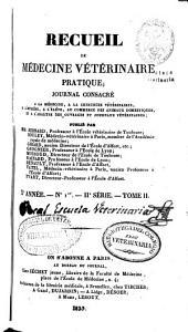 Recueil de médecine vétérinaire: Volume10