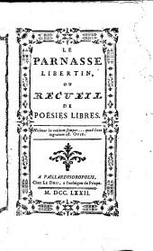 Le Parnasse libertin, ou recueil de poesies libres
