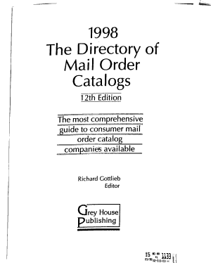 The Directory of Mail Order Catalogs PDF