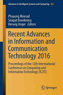 Recent Advances in Information and Communication Technology 2016 PDF