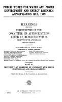 Public Works for Water and Power Development and Energy Research Appropriation Bill  1979 PDF