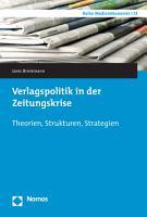 Verlagspolitik in der Zeitungskrise PDF