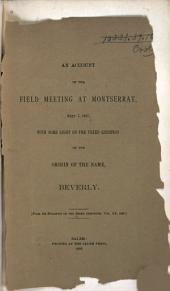 An Account of the Field Meeting at Montserrat, Sept. 7, 1887: With Some Light on the Vexed Question of the Origin of the Name, Beverly