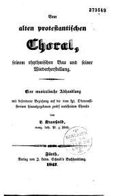 Vom alten protestantischen Choral...
