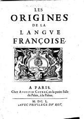 Les origines de la langue françoise