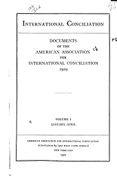 International Conciliation: Issues 134-139