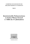 Konstitutioneller Parlamentarismus in Sachsen Weimar Eisenach PDF