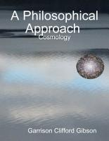A Philosophical Approach   Cosmology PDF