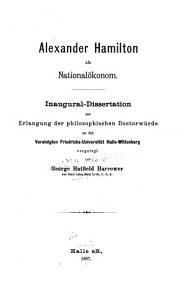 Alexander Hamilton als National  konom PDF