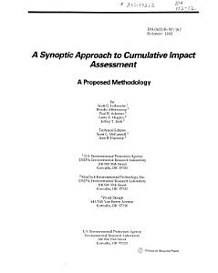 A Synoptic Approach to Cumulative Impact Assessment
