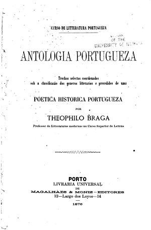 Antologia portugueza     precedidos de uma poetica historica portugueza