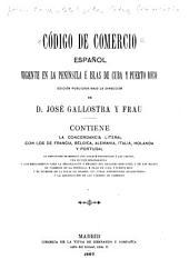 Código de comercio español vigente en la península é islas de Cuba y Puerto Rico