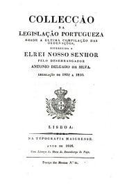 Collecção da legislação portuguza desde a ultima compilação das ordebações: 1763-1790 suppl