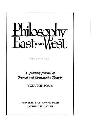 Philosophy East   West PDF