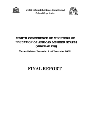 Eighth Conference of Ministers of Education of African Member States  MINEDAF VIII  PDF