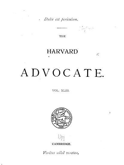 Harvard Advocate PDF