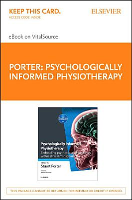 Psychologically Informed Physiotherapy E-Book