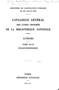 Catalogue g  n  ral des livres imprim  s de la Biblioth  que nationale PDF