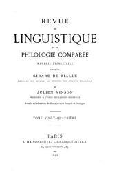 Revue de linguistique et de philologie comparée: Volume24
