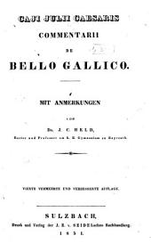 Commentarii de bello Gallico, (lib. 1-8)