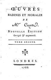 Oeuvres badines et morales. Nouvelle ed: Volume2