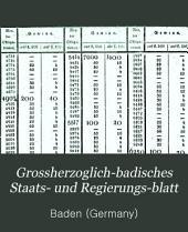 Grossherzoglich-Badisches Staats- und Regierungs-Blatt: Band 25