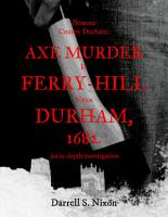 Demonic County Durham  Axe Murder in Ferry Hill near Durham  1682 PDF