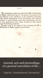 Journal, Acts and Proceedings, of a General Convention of the Commonwealth of Virginia