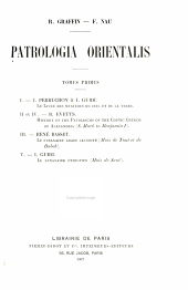 Le Synaxaire arabe jacobite (redaction copte)