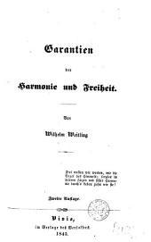 Garantien der Harmonie und Freiheit