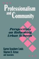 Professionalism and Community PDF