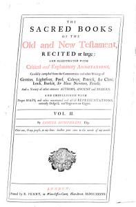 The Sacred Books of the Old and New Testament  Recited at Large  PDF