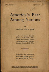 America's Part Among Nations