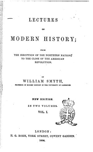 Lectures on Modern History by William Smyth