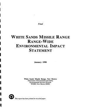 White Sands Missile Range  Range Wide EIS