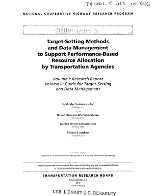 Target setting Methods and Data Management to Support Performance based Resource Allocation by Transportation Agencies PDF