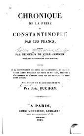 Chronique de la prise de Constantinople par les Francs: Volume3