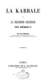 La kabbale: ou, La philosophie religieuse des Hébreux