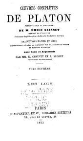 Oeuvres complètes de Platon: Volume8