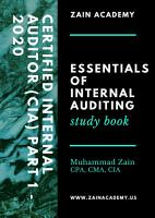CIA Part 1   Essentials of Internal Auditing   2020 PDF
