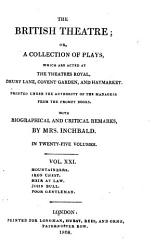 The British Theatre Or A Collection Of Plays Book PDF