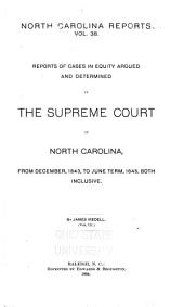 North Carolina Reports: Iredell's Equity: Volume 38