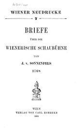 Briefe Über Die Wienerische Schaubühne
