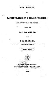 Beginselen der goniometrie en trigonometrie: Volume 1