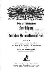 Die geschichtliche Berechtigung des deutschen Nationalbewusstseins